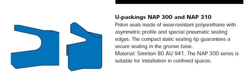 NAP210和NAP310型孔用气动密封圈